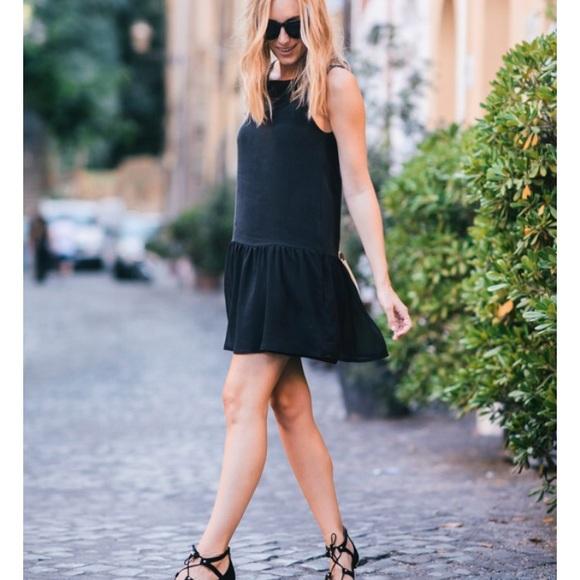 efff3f0dfd3 NWT Anine Bing Silk Drop Waist Dress